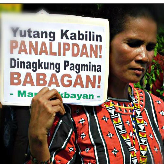 A protester during the Manlakbayan, a march and caravan from Mindanao to Manila highlighting environmental and human rights issues in Mindanao (photo courtesy of PANALIPDAN).