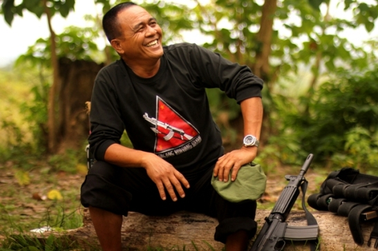 Commander Leoncio Pitao of the NPA's Merardo Arce Command-Southern Mindanao Regional Operational Command which has declared a ceasefire due to the devastation of typhoon Pablo (photo courtesy of Bulatlat).