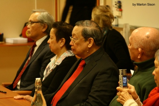 Jose Maria Sison, founding chair of the Communist Party of the Philippines, and current consultant for the NDFP, during peace talks in the Netherlands between the NDFP and the government of the Philippines (photo by Marlon Sison courtesy of Office of the Presidential Adviser of the Peace Process).