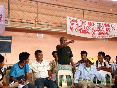 A Kalinga elder urged other participants to the Katribu Indigenous Peoples Partylist congress to draw the lessons from the past elections in order to win a seat (photo by Alma Sinumlag/Northern Dispatch).