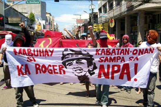 Members of Kabataang Makabayan rallying in Davao back in October of 2011 (photo by  Karlos Manlupig).