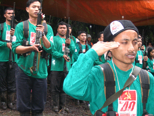 NPA fighters during the celebration of the CPP's 40th anniversary (photo courtesy of Asian Correspondent).