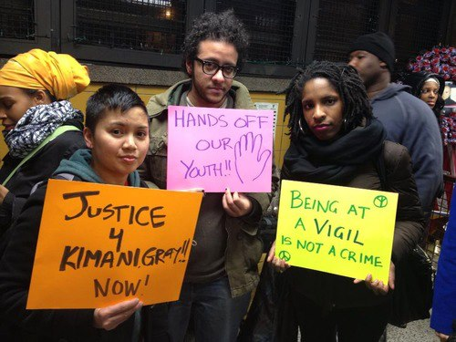 Residents of New York, along with BAYAN-USA, protesting the killing of Kimani Gray and the repressive policies that followed his death (photo courtesy of BAYAN-USA).