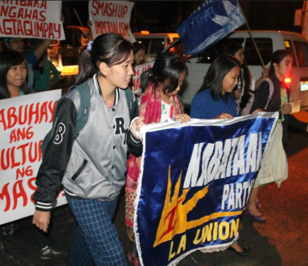 Youth and students from Kabataan Partylist at a Northern Luzon youth conference in January (photo courtesy of Kabataan Partylist Cordillera).