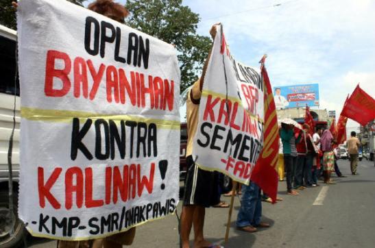 Farmers, in Davao City, protesting Oplan Bayanihan back in September of 2011 (photo by Jonald Mahinay/Arkibong Bayan).