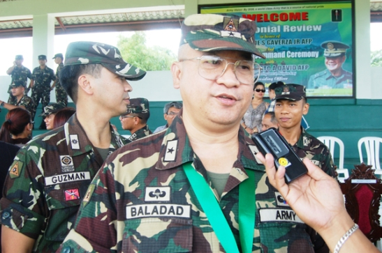 Brigadier Gen. Aurelio Baladad while commander of the 9th ID in Bicol (photo by  Juan Escandor Jr./Bicol Mail).