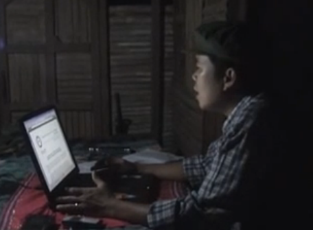 NDFP-Bicol spokesperson Frankie Joe Soriano (Ka Greg Bañares) in a still taken from a video by the NDFP. Bañares was captured and executed by soldiers from the 31st IB.