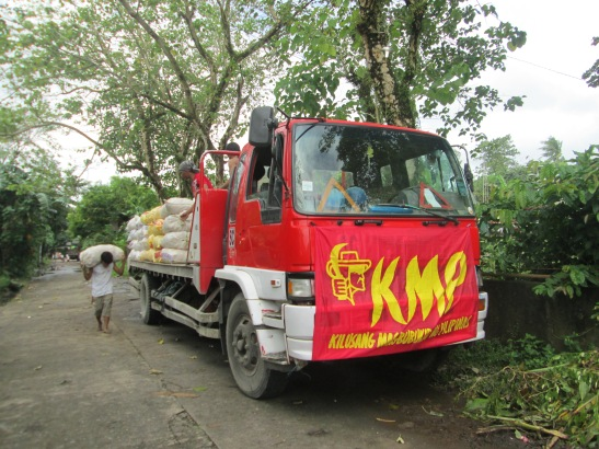One of the trucks on a caravan being organized by KMP to help the survivors of Typhoon Yolanda (photo courtesy of KMP).