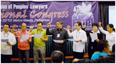 Members of the National Union of Peoples' Lawyers (NUPL) during their national congress in 2010 (photo courtesy of NUPL).